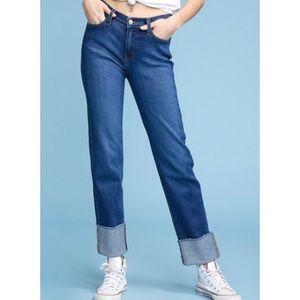 Judy Blue Jeans Straight leg raw hem